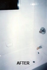 Great newly resurfaced shower tile as a result of Tub Tech's excellent resurfacing